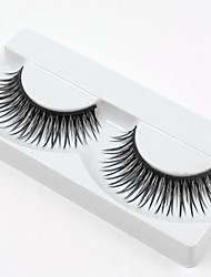 Hot Sale 1 Pairs Natural Black Long Thick False Eyelashes Eyelash Eye Lashes for  Eye Extensions