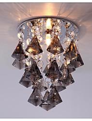 fumer gris diamant de couleur cristal balcon éclairage pour l'hôtel et décoration de la maison