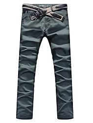 poches spéciales à la mode des pantalons longs masculins armée feu vert