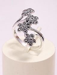 925 zilveren sieraden bloem ring