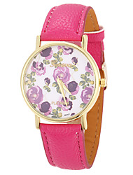 ToMoNo Flower Pattern PU Leather Women Dress Watch(Rope)