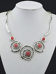 Necklace Statement Necklaces Jewelry Party / Daily / Casual Fashion Gem Red 1pc Gift