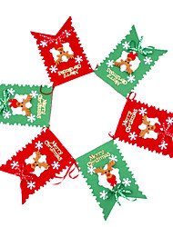 100inch Set Of 6 Christmas Flag Merry Christmas Character ,PVC Random Type