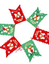 100inch набор 6 Рождество флага Рождеством характера, ПВХ случайный тип