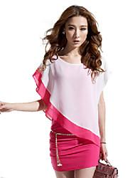 Mufans Women's Korean Style False 2PCS Dress 1349#