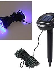 7,5 m 60 LED bleue solaires noël chaîne de conte de lumière noce décoration d'arbre de jardin