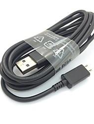2m 6,6 pieds micro usb chargeur câble de chargement de données de synchronisation pour samsung s3 / s4 htc nokia sony