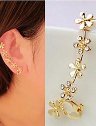 Ear Cuffs Costume Jewelry Birthstones Luxury Rhinestone Imitation Diamond Alloy Flower Jewelry For Wedding Party Daily Casual