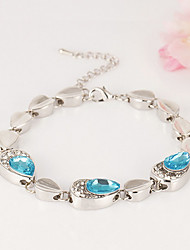 Cute / Casual Alloy / Gemstone & Crystal Link/Chain / Beaded Bracelet
