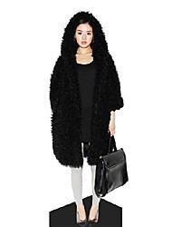 outwear hiver fashion faux pas cher, plus la taille de manteau de fourrure des femmes