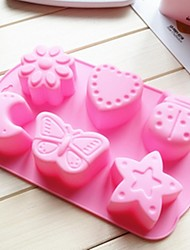 6 Hole Insect Moon Shape Cake Mold