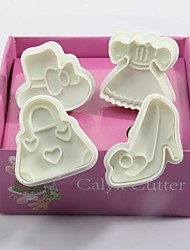 White Clothes Shoes Bag Shaped Three-dimensional Cookies Mould