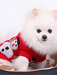Hunde - Winter - Wollen - Weihnachten - Rot - Pullover - XS / M / XL / S / L