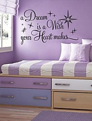 Wall Stickers Wall Decals, Modern Quote PVC Wall Stickers