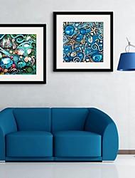 e-HOME enmarcado arte de la lona, mundo submarino enmarcado de ajuste de impresión de la lona de 2