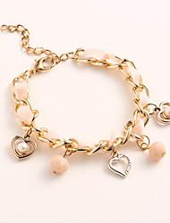 temperamento moda elegância coração pérola ace-k das mulheres cortar pulseira