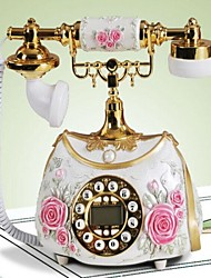 Antique Bag Design Polyresin Material Home Decor Telephone with ID Display, Hand Paint Color