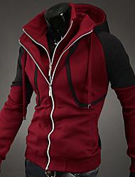 Hooded Leisure Zipper Coat