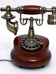 Europe Style Wooden Material Home Decor Telephone with ID Display