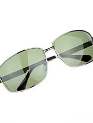 Óculos de Sol Homens's Clássico / Retro / Vintage / Fashion / Polarized Retângular Cinzento Escuro Óculos de Sol -Rim completa