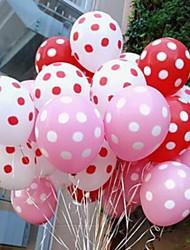 día de fiesta de la boda del partido del punto de onda de los puntos de color caramelo-globos más gruesas (50 piezas)
