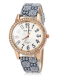 Women's Quartz Vintage PU Band Diamante Case Wrist Watch (Assorted Colors) Cool Watches Unique Watches