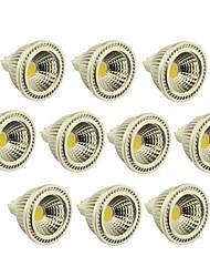 10 pcs GU5.3(MR16) 3W 1 COB 270-300 LM Warm White / Cool White MR16 Dimmable LED Spotlight DC 12 V