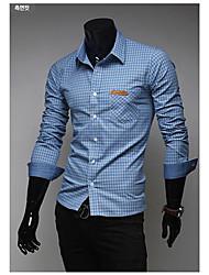 Informell Langarm - MEN - Freizeithemden ( Baumwolle )