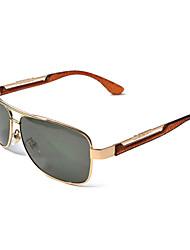 lunettes de soleil rétro métallique de conduite d'aviateur polarisée