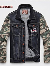 YHS®Men Stitching Denim Jacket JDX2012