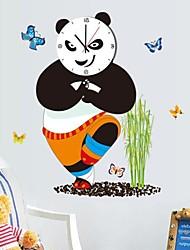 Wall Clock adesivos adesivos de parede, legal kung fu panda parede pvc adesivos
