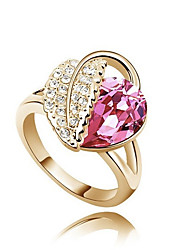 Ring Fashion Party Jewelry Alloy / Platinum Plated Women Statement Rings 1pc,One Size White / Pink