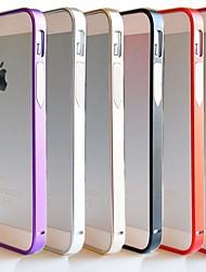 df® ultra fino 07 milímetros de metal moldura de alumínio no vidro traseiro para iPhone 5 / 5s