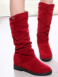 Women's Shoes Fashion Boots Round Toe Chunky Heel Mid-Calf Boots More Colors available