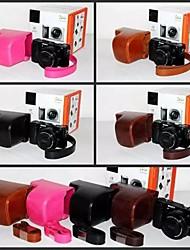 pajiatu® pu cámara piel aceite de cuero funda protectora cubierta de la bolsa para sony a6000l A6000 alfa ILCE-6000L nex-6