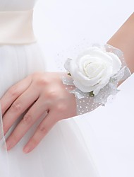 "Wedding Flowers Round Roses Wrist Corsages Wedding / Party/ Evening As Picture Foam 0.39""(Approx.1cm)"