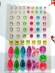 2 sheet/set Mixed Style Rhinestone Stickers Self Adhesive Scrapbooking Stickers