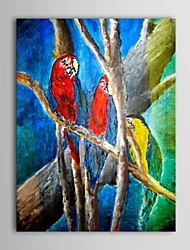 IARTS®Hand Painted Oil Painting Landscape Parrots in The Tree with Stretched Frame
