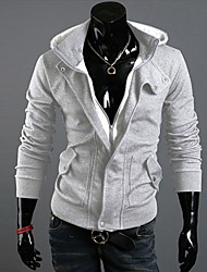 Zizi Men Leisure Two Piece Like Hoodie Coat
