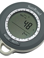 Mulitfasional Mini Digital Altimeter Climb Rate Barometer Thermometer Weather Forecast Time Compass