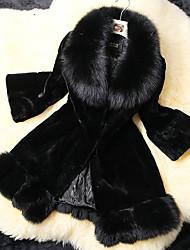 lujo abrigo largo de piel pc037 de Nina mujeres