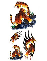1pc Animal Series Blood Tiger Waterproof Body Art Tattoo Pattern Temporary Tattoos Sticker(18.5cm*8.5cm)