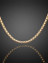 Never Fade Jack Men's 24K Real Gold Plated Figaro Round Link Chains Necklace High Quality for Men 6MM 75CM Christmas Gifts