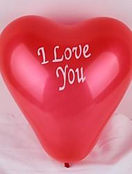 100 piezas de 12 pulgadas te quiero globo impresión del corazón (colores al azar)