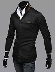 Men's Fashion Splicing Slim Collar Multi Particle Single Breasted Suit