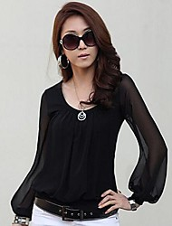 lanterna camisa de manga chiffon de Coco Zhang mulheres