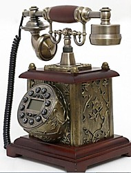 Europe Style Polyresin with Wooden Material Home Decor Telephone with ID Display, Antique Bronze