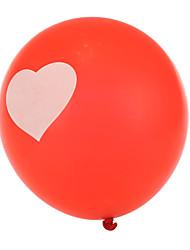 grandi dimensioni in più palloncini rossi spessi rotondi cuore - set di 24