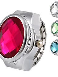 Montre d'anneau de quartz analogique en alliage brillant des femmes (couleurs assorties)