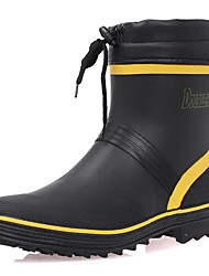 Men's Shoes Outdoor Rubber Boots Green